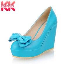 KemeKiss Бесплатная доставка Новый высокий каблук туфли на танкетке на платформе модная женская одежда пикантные туфли-лодочки на каблуке P11160 горячая Распродажа европейские размеры 31–43