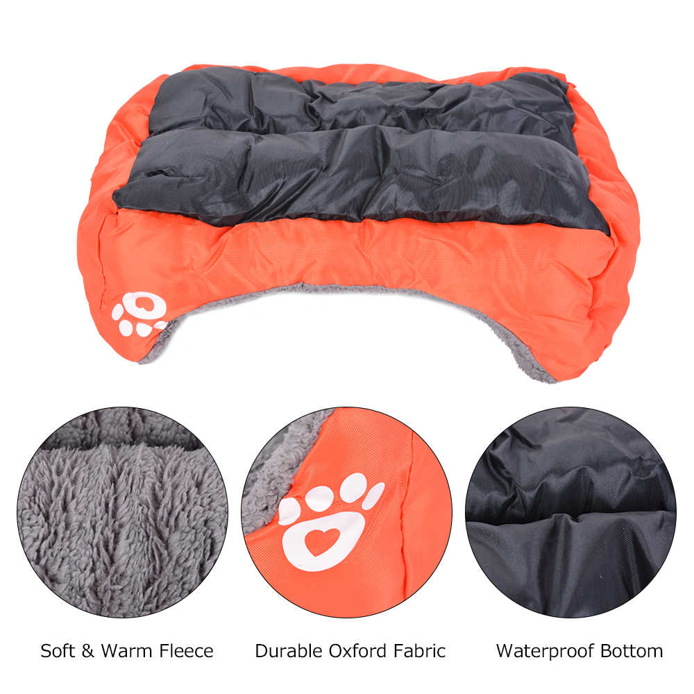 S-3XL 10 Colors Paw Pet Sofa Dog Beds Waterproof Bottom Soft Fleece Warm Cat Bed House Dropshipping Cama Perro
