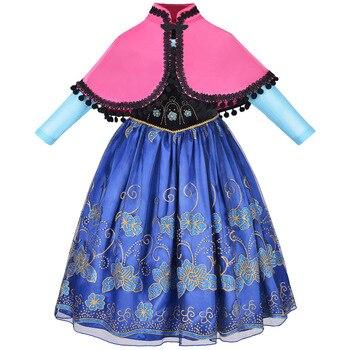 2f272fd59 Elsa vestidos princesa Anna vestido para niñas boda cumpleaños fiesta ropa  Elsa Anna Cosplay disfraces Elza Elsa vestido