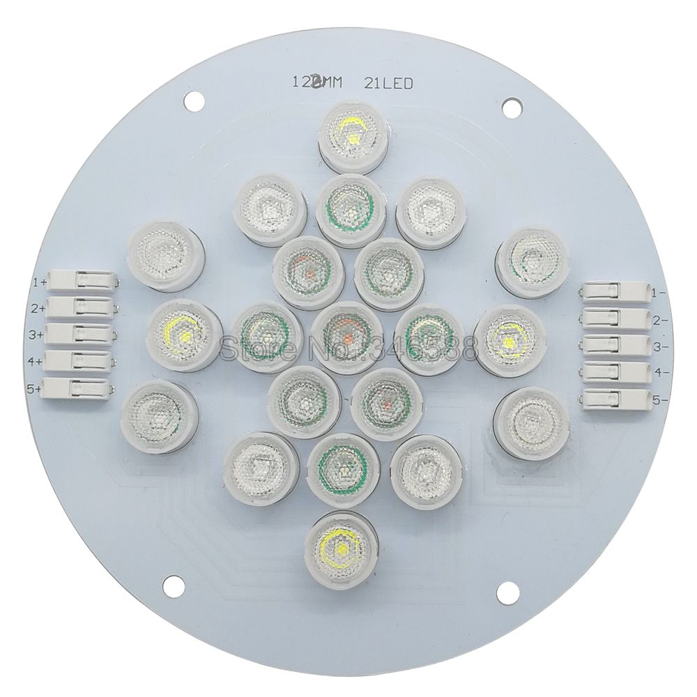 5 Channel 21Leds Cree Epileds Led Coral Emitter Lamp Light with 13mm Frost or Clear Lens