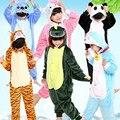 Nuevo Bebé Pijamas niños Niñas Niños Otoño Invierno de Franela Animal divertido animal Puntada panda Onesie Ropa de Dormir de Los Pijamas Del Cabrito