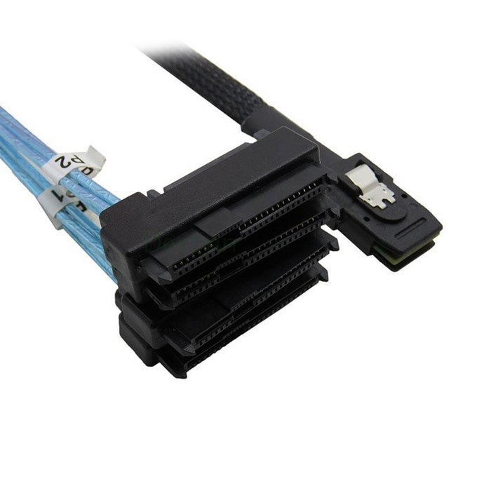 100cm Internal 36 Pin Mini SAS SFF-8087 Host to 4 SFF-8482 Target SAS Hard Disk and SATA Power Cable 1 5ft 0 5m slim line sas 4 0 sff 8654 4i 38pin host to 4 sata 7pin target hard disk fanout raid connecting cable 50cm