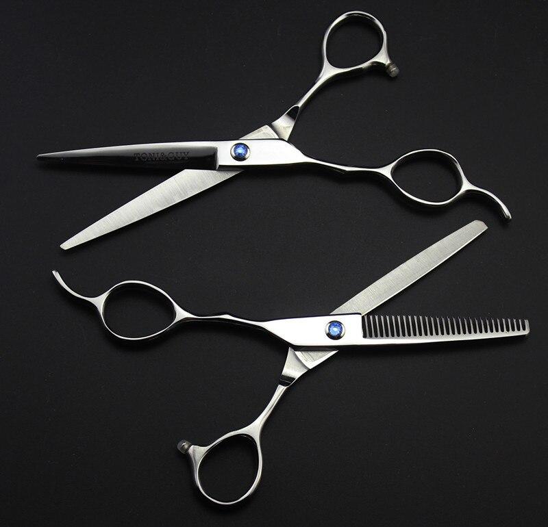 Personnalisé 440c 6 5,5 pouces main gauche coupe coiffeur - Soin des cheveux et coiffage - Photo 2