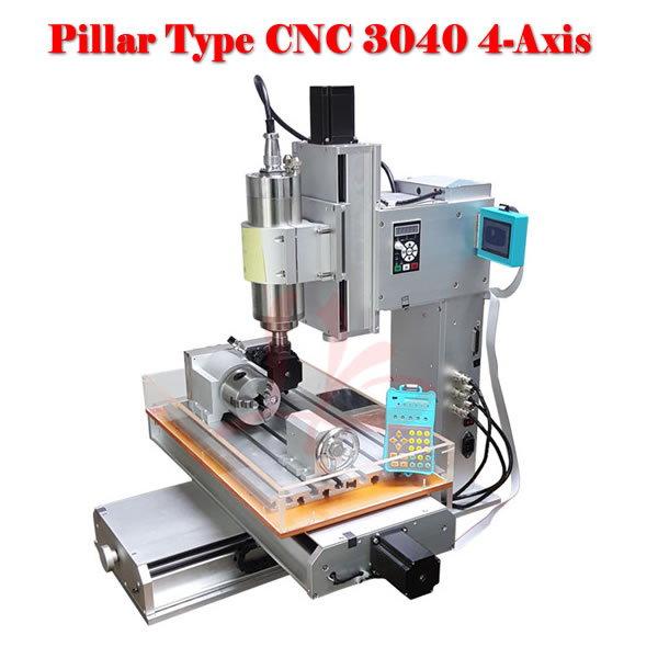 CNC router 3040 4 axis wood carving machine CNC 3040 cnc milling machine russia no tax 1500w 5 axis cnc wood carving machine precision ball screw cnc router 3040 milling machine