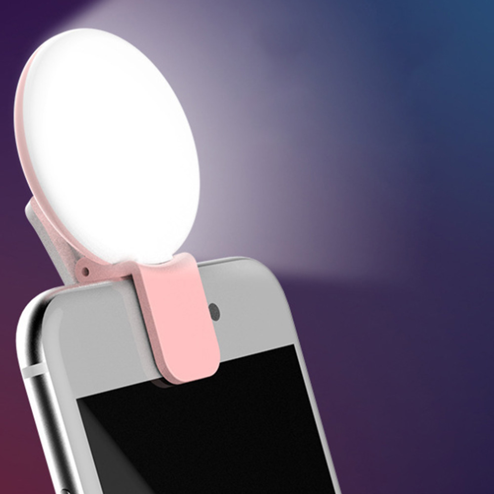 Portable Selfie Flash Led Clip-on Mobile Phone Selfie Light Night Enhancing Fill Light Female Anchor Beauty Self-timer Lamp(China)