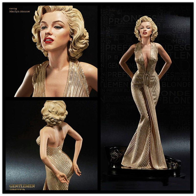 все цены на 42cm 1/4 Scale Blondes Marilyn Monroe Statue pvc Sexy Figure Collectible Model Toy free shipping онлайн