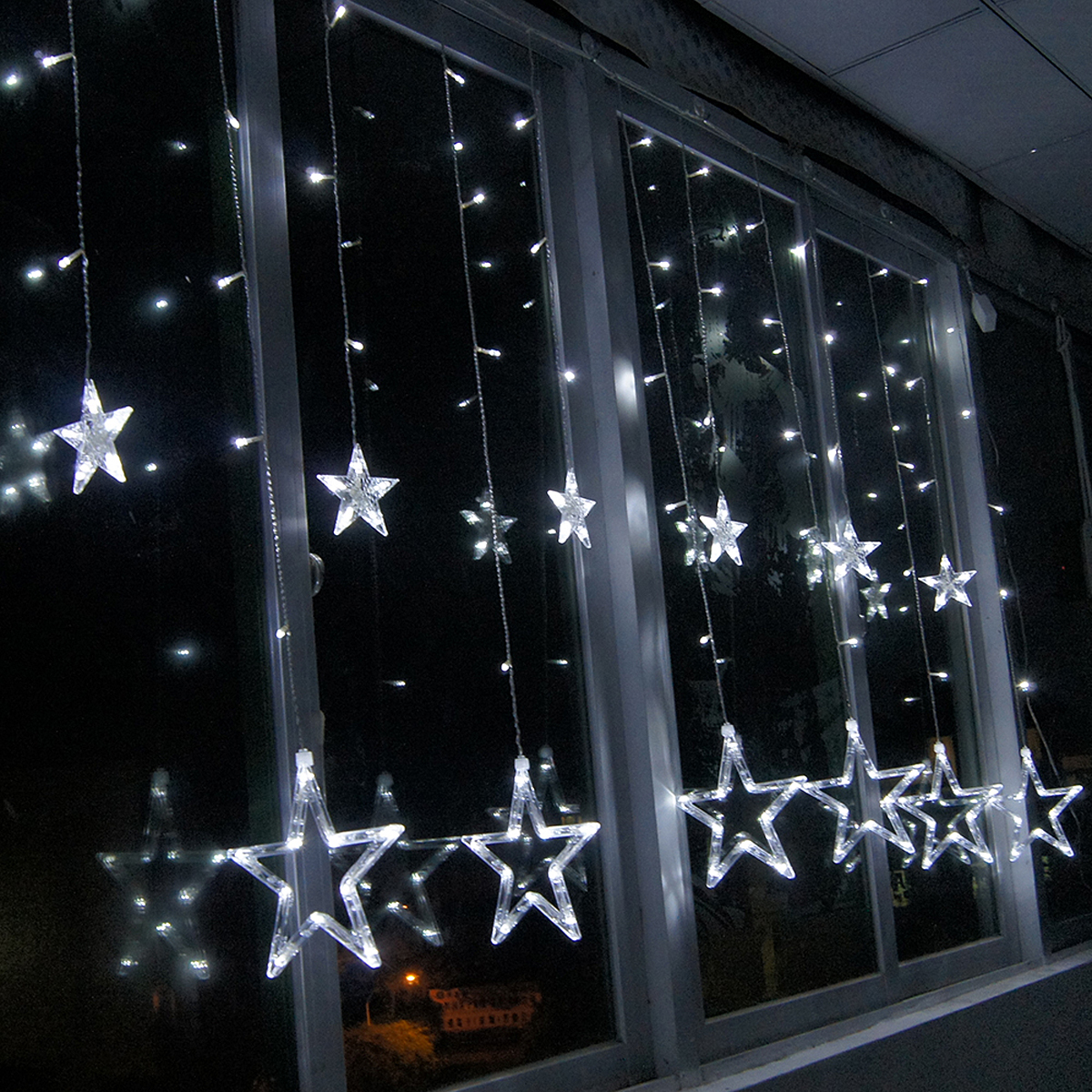 2M Christmas Lights Romantic Fairy Star LED Curtain String Lighting Holiday  Wedding Garland Party Decoration US/EU/UK Plug In Lighting Strings From  Lights ...