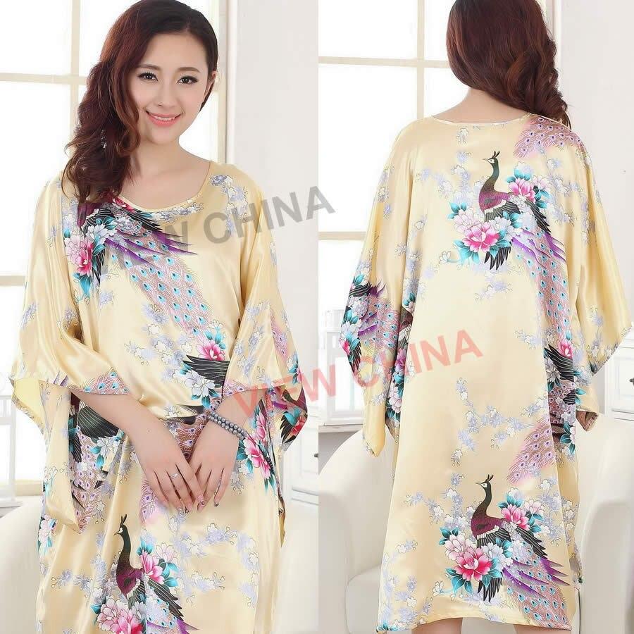 HQ Silk Fabric Chinese Traditional ancient costume style Sleepwear Luxurious  elegance Women s Pajamas Sexy slim Bathrobe S4000 9-in Nightgowns    Sleepshirts ... 2c11bdcf8