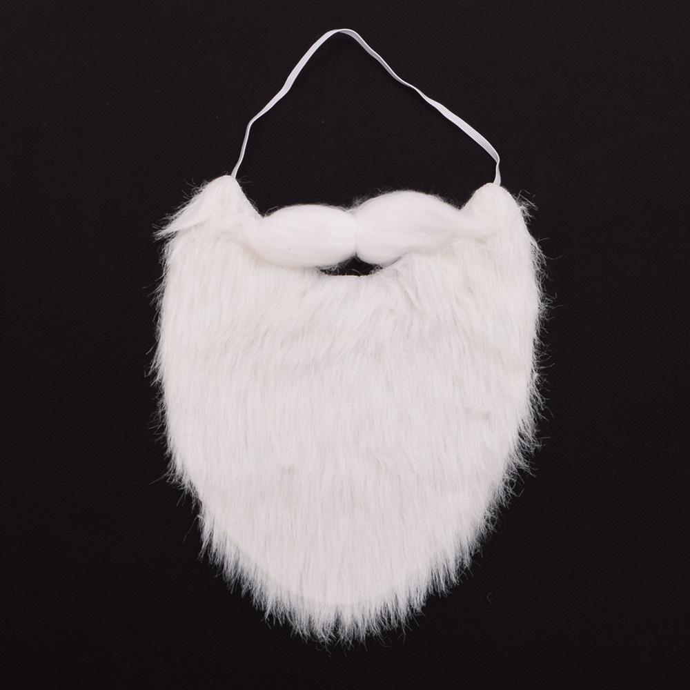 2pcs/Lot Santa Claus Beard Mustache Christmas Party Costume Props Cosplay Dress Up