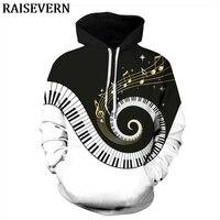 Musical Note Piano Keys 3D Hoodie Sweatshirts Men Women Hoody Pullover Autumn Tracksuit Hooded Tops Homme Jumper Streetwear