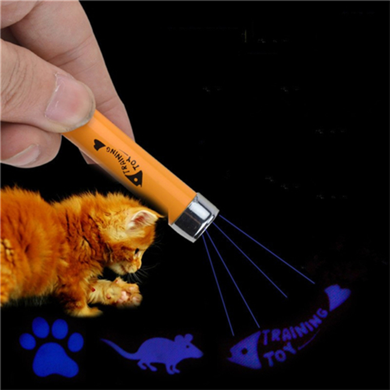 OnnPnnQ Funny Pet Cat Toys LED Laser Pointer light Pen With Bright Animation Mouse Shadow Interactive Holder For Cats Training2