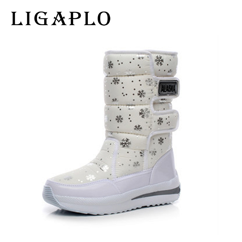 girl snowflake winter hot selling female font b women b font boots four colour white black