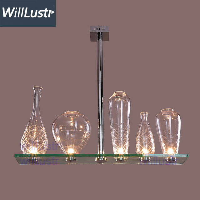 Willlustr cicatrices de luxe crystal glass chandelier hanging light ...