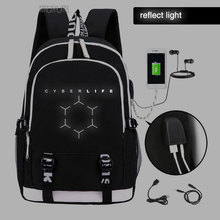 Become Human  backpack  Human Trendy usb laptop school bag for girls boys teenagers children's cool bookbag