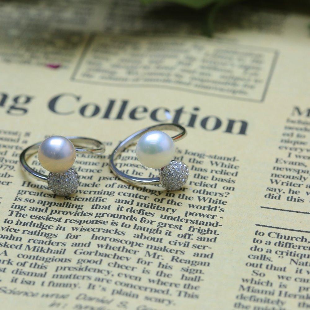 7ab4c856f967 DIY collar Bracelat joyería fabricación 7-8mm blanco cultivado agua dulce  perlas sueltas hebra 16