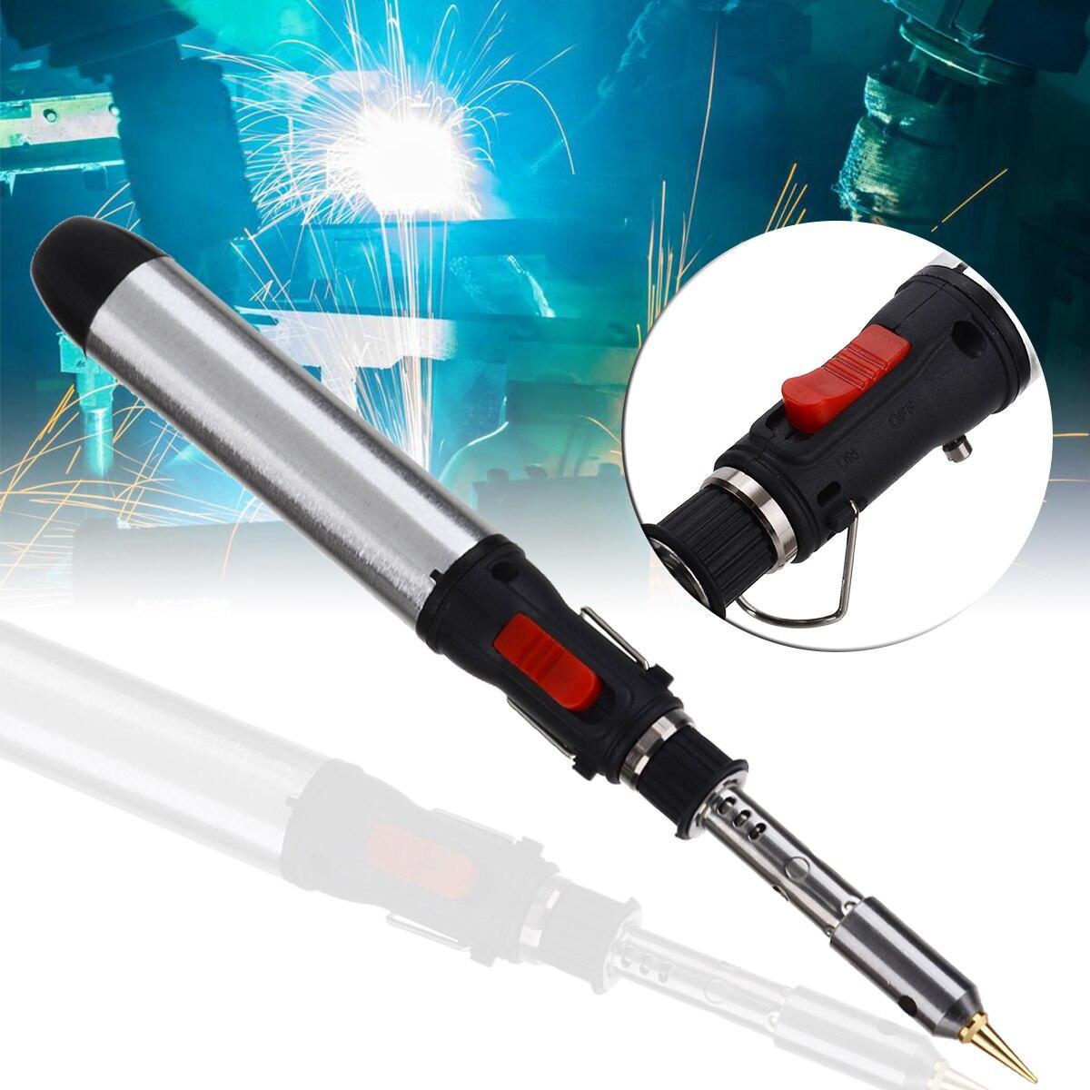 Газовый паяльник, сварочный Газовый паяльник, набор бутановых беспроводных сварочных ручек, фонарь, набор инструментов, Ремонтный инструмент для сварки