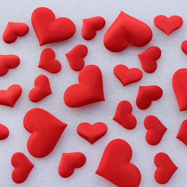 Acheter 500 pcs/lot Assorties Doux Coeur Rouge Forme De Mariage Pétale Rembourré Tissu Coeur Faveurs De Mariage pour Chambre Décor, Confettis Fournitures de wedding favors fiable fournisseurs