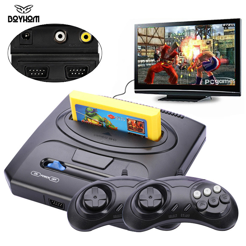 Handheld TV Video Game Console with Double Gamepads and Card Slot Supports AV Output 1