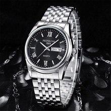 Fedylon Fashion Mens Watches Brand Luxury Stainless Steel Date Day Waterproof Business Clock Quartz Wristwatch Montre Homme