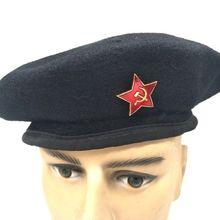 RUSSIAN MILITARY WOOL BERET CAP ARMY BORDER GUARD USSR HAT