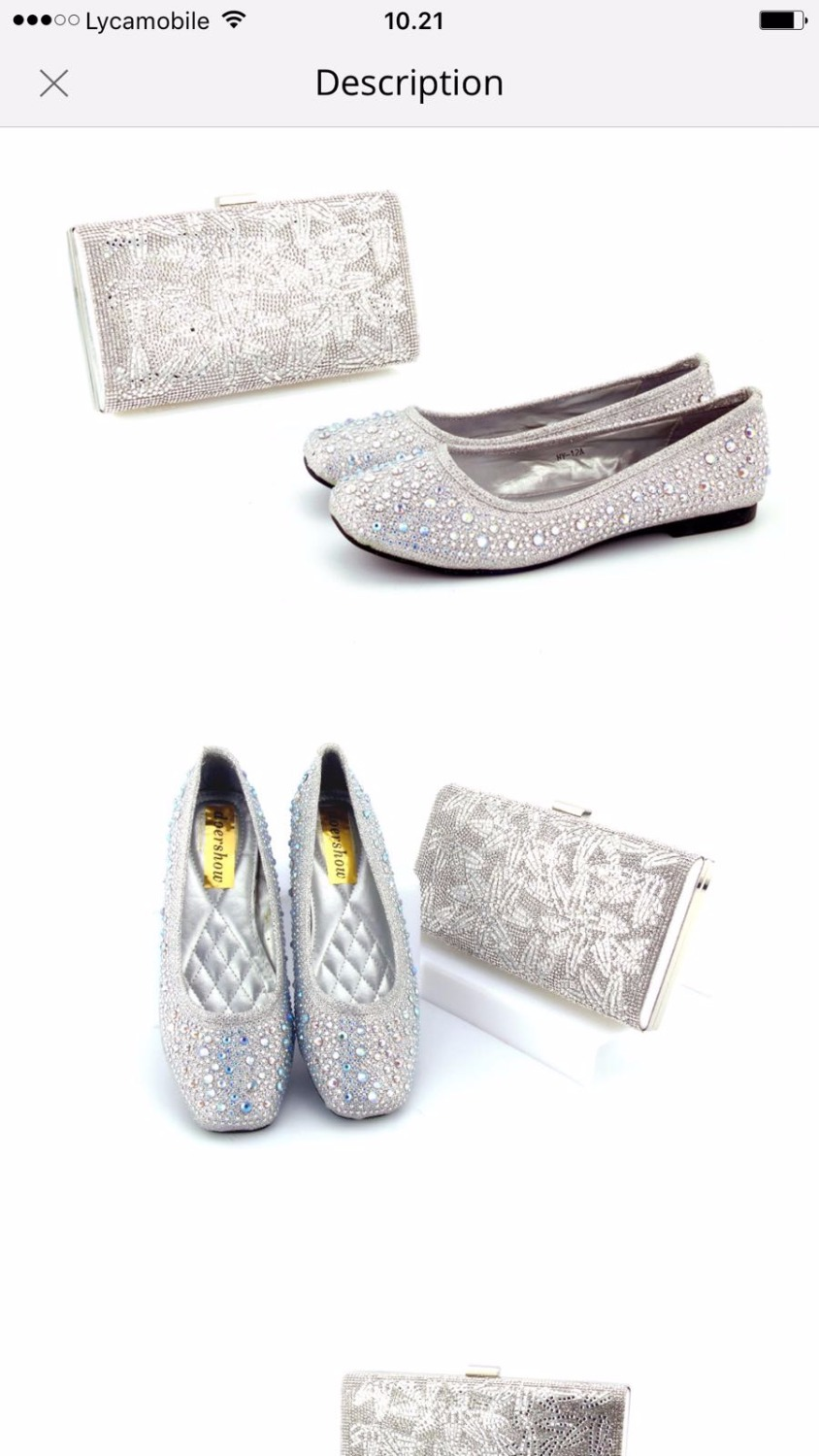 Silver Bride wedding shoes and bags Set womens Pumps thin heel party shoes