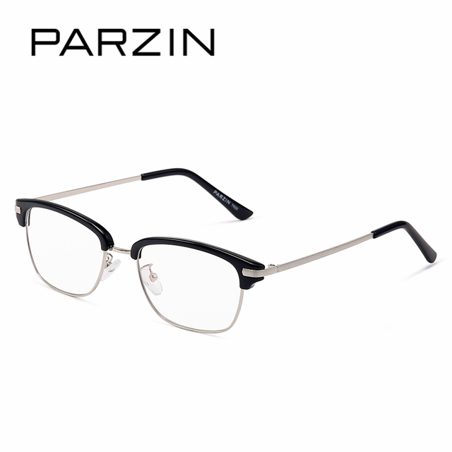 PARZIN TR90 Glasses Frames With Clear Lens Customizable Myopia ...