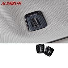 Высокое качество ABS углеродного волокна отделка микрофон декоративные чехлы автомобильные аксессуары Подходит для BMW X3 G01 2 шт./лот