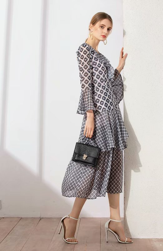 Ah03588 Supérieure Style Robe Nouvelle Luxe 2019 Européenne Partie Célèbre Mode Printemps Design Qualité De Femmes Marque xrx4wCFq