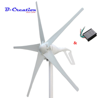 Factory price,400w mini wind turbine generator 3/5 blades small wind mill low start up wind generator + 400w wind controller