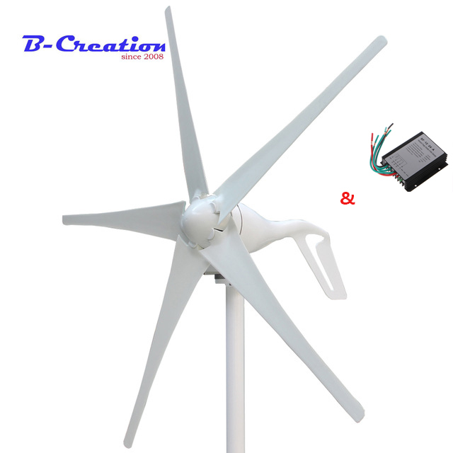 Factory price,400w mini wind turbine/generator 3/5 blades small wind mill low start up wind generator + 400w wind controller