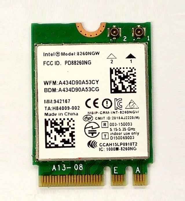 SSEA nouveau pour Intel double bande sans fil-AC 8260 8260NGW NGFF 802.11ac 2x2 867 Mbps WiFi + Bluetooth 4.2 adaptateur combiné carte Wlan