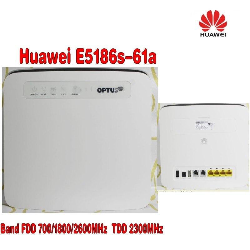 unlocked Huawei E5186 E5186s-61a 700/1800/2600MHz FDD 2300Mhz TDD wireless 4g 300M cpe wifi router PK B593 B890+4G Antenna