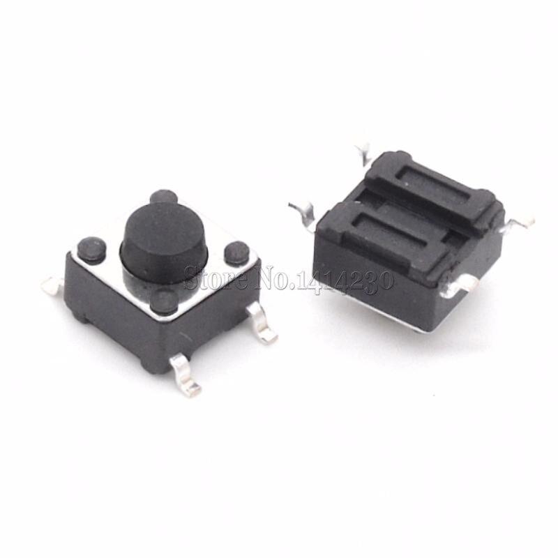 100PCS SMD Tact Push Button Switch 6X6X5mm Micro Switch 6*6*5mm