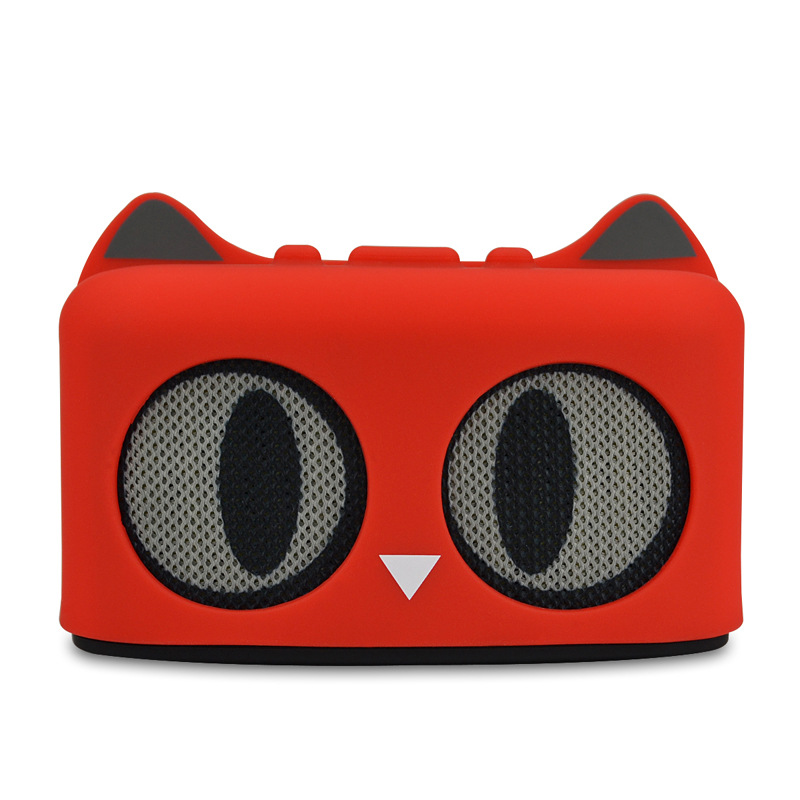 mini cute cool <font><b>cat</b></font> style <font><b>bluetooth</b></font> <font><b>speaker</b></font> build in radio card reader fuction for mobile phone computer tablet image
