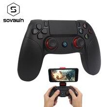 Sovawin אלחוטי Smartphone ג ויסטיק Gamepad אנדרואיד בקר Bluetooth בקרת עבור IOS ואנדרואיד חכם טלוויזיה עם תמיכה