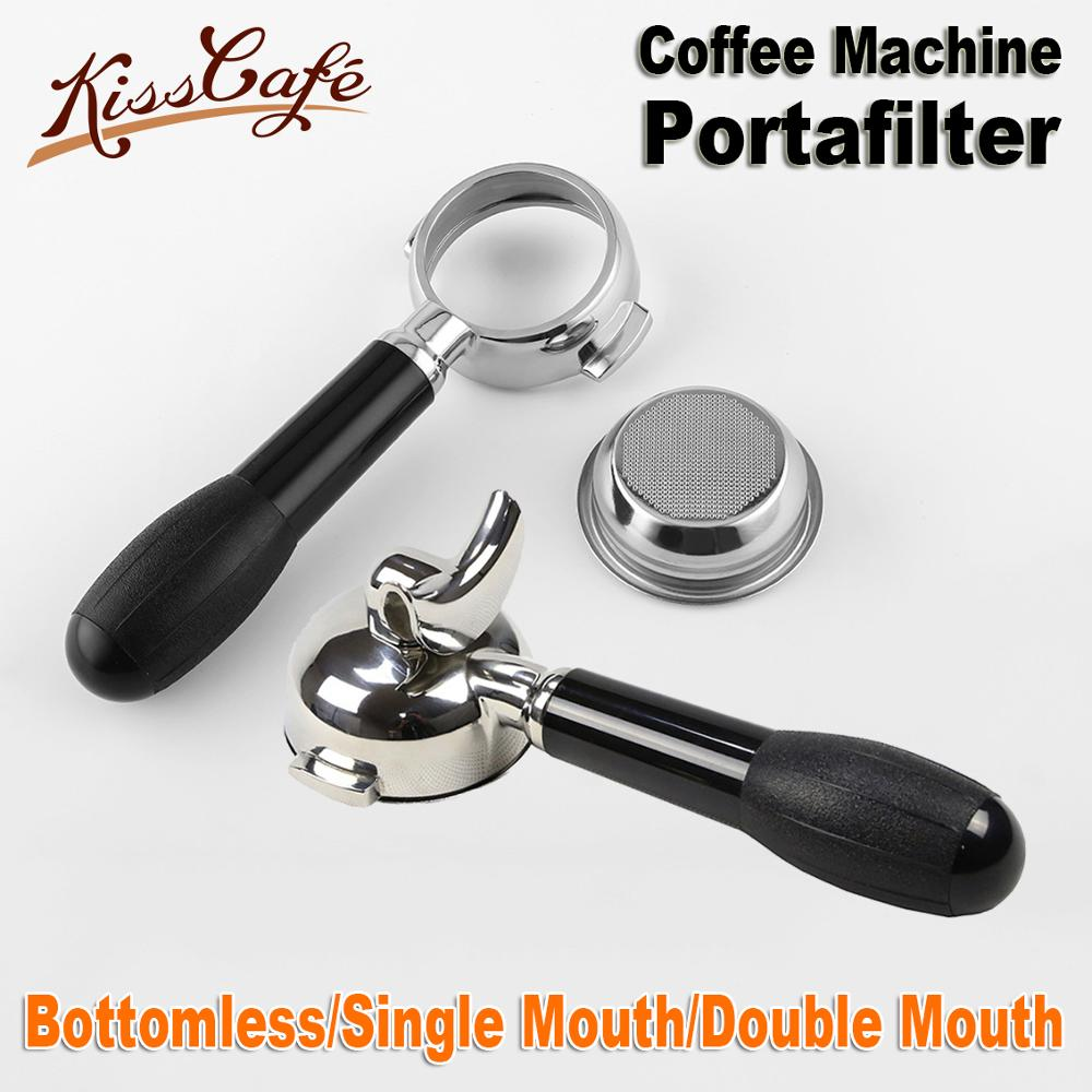 58MM Stainless Steel Coffee Machine E61 Bottomless Filter Holder Portafilter For CRM Double mouth Professional Accessory58MM Stainless Steel Coffee Machine E61 Bottomless Filter Holder Portafilter For CRM Double mouth Professional Accessory