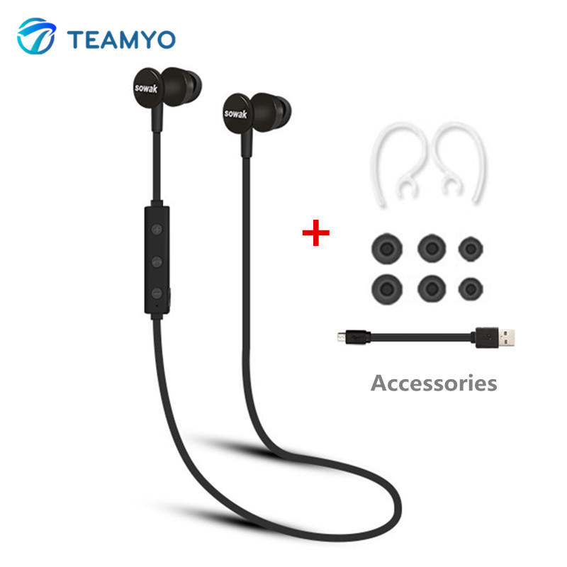 Teamyo S2 Sports Bluetooth Headset IP4 Waterproof In-Ear Earphones Wireless auriculares bluetooth handsfree Earbuds With Mic dacom carkit bluetooth headset stereo mini wireless earphones handsfree earbuds auriculares bluetooth 4 2 gf7 for iphone android