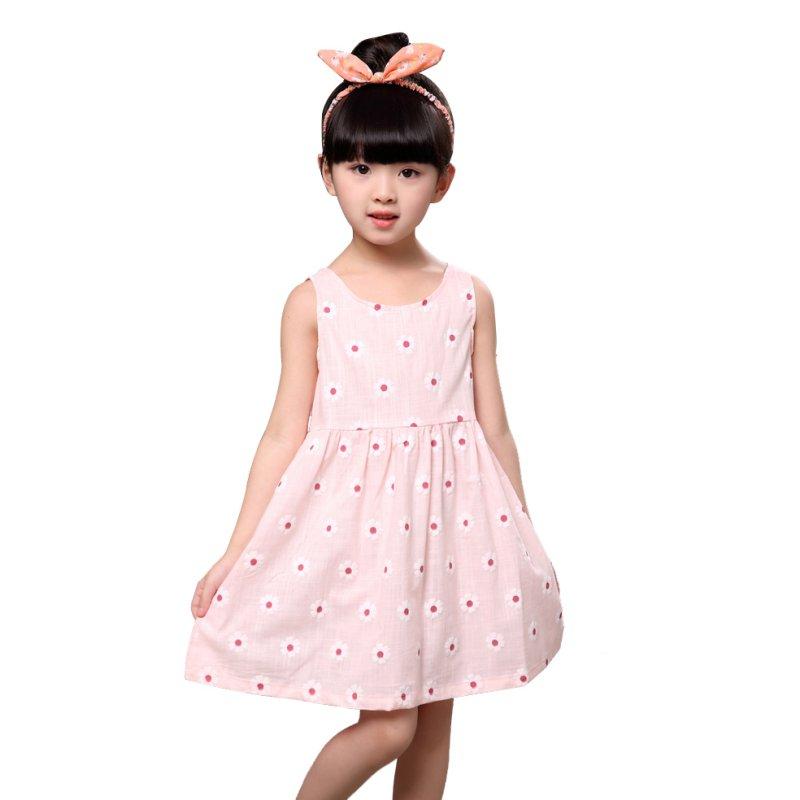 2017-Girl-Summer-Dress-Kids-Sleeveless-Printing-Pattern-cotton-Vestidos-Children-Clothes-2