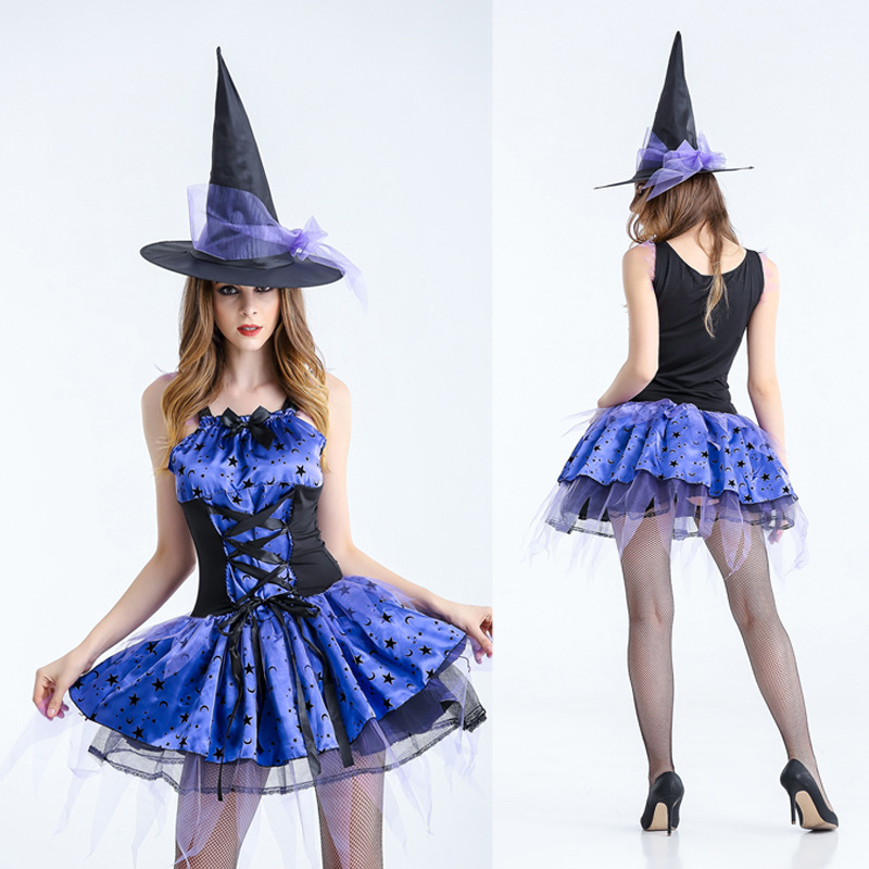 Halloween cosplay costume for women wizard witch short skirt girls fancy ball party carnival sexy costume