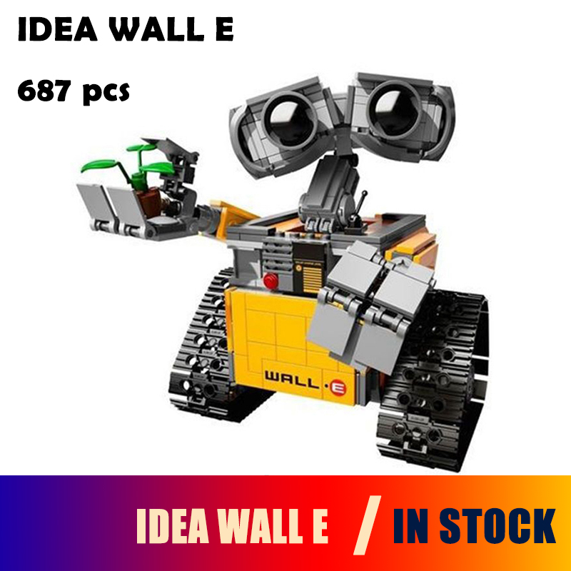 Building Blocks Model 16003 Compatible with lego IDEA WALL E 21303 Figure Educational Toy for Children Gift for Boy Girl oenux wrestlemania wrestling weightlifting gym model the wrestler athlete figure building blocks bricks toy for boy s gift