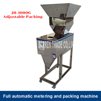 20 3000g Food Racking Machine Automatic Quantitative Weighing filling Packing Machine For tea/Grain Stainless Steel Big hopper