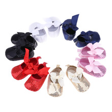Newborn Baby First Walkers Shoes Princess Bowknot Shoes Soft Infants Crib Shoes New Prewalker