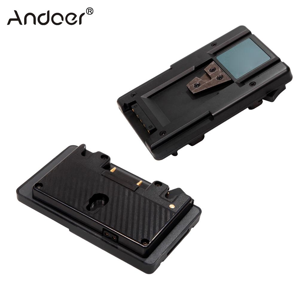Andoer Gold Mount to V Mount Battery Adapter Plate Converter with D tap Port for Battery