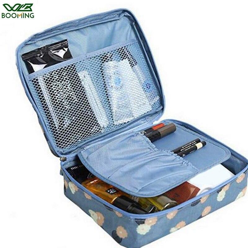 WBBOOMING Fashion Travel Storage Bag Zipper Portable Make Up Beauty Case Makeup Organizer Cosmetic Storage Bag Skincare Storage