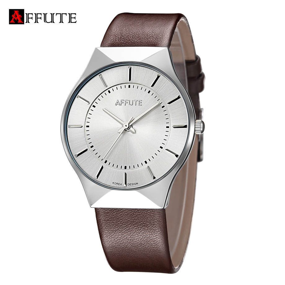 Fashion Simple Stylish Luxury Brand Watches Men Thin Dial Clock Man Casual Leather Quartz Wristwatches Relogio