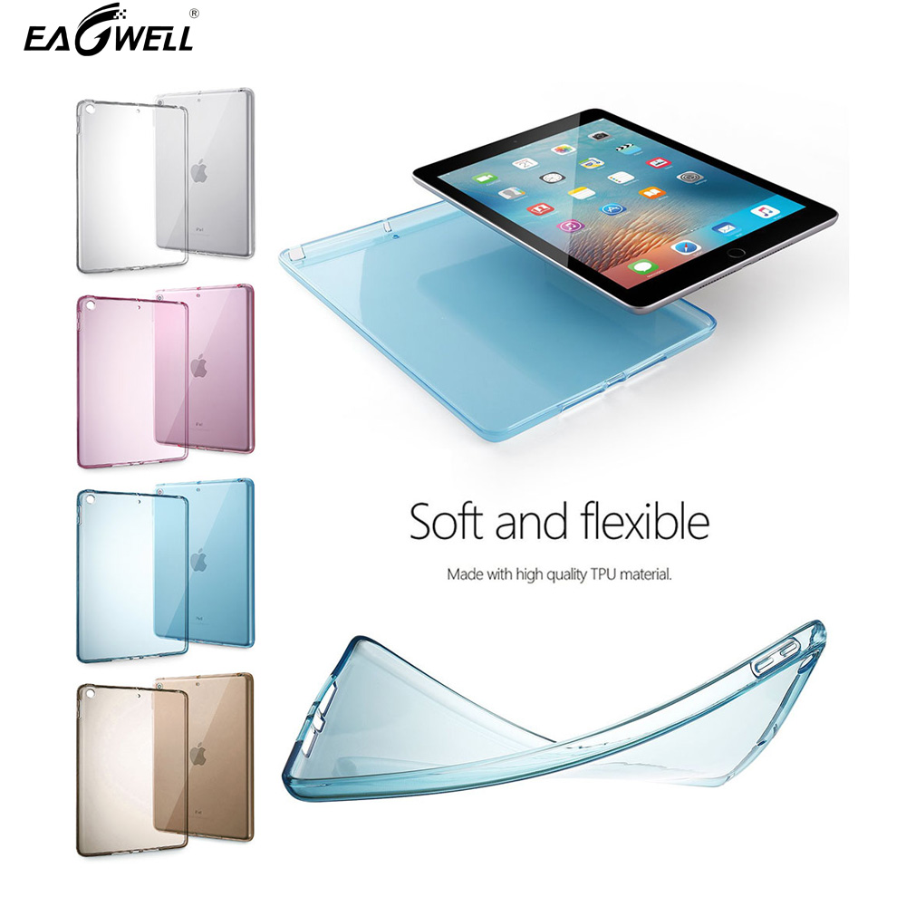 Soft Durable TPU Cover Case For Apple iPad 2017 9.7 Ultra thin lightweight Transparent Protective Tablet Case Cover Shell Skin soft silicon tpu case for apple ipad pro 9 7 back cover tablet ultra thin clear transparent fundas protective bags skin shell