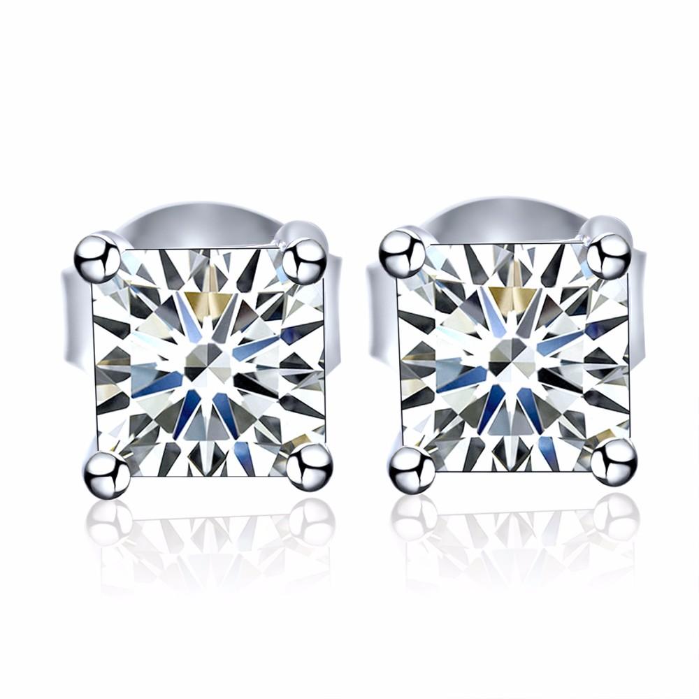 925 sterling silver stud earrings square NE02300B (2)