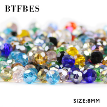 BTFBES Ball Faceted Austrian Crystals Beads 8mm 30pcs Loose For Jewelry Making Accessories DIY Bracelet Necklace