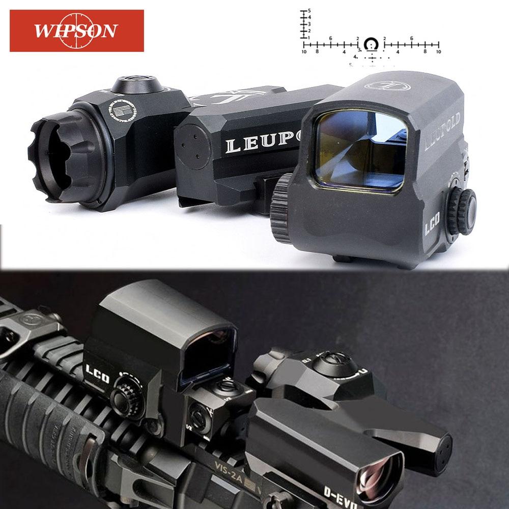 LP WIPSON D-EVO Dual-Enhanced Vista Óptico Reticle Rifle Scope Magnifier com LCO Red Dot Sight Reflex Sight Rifle pontos turísticos