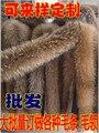 Personalizar general de gran tamaño accesorios de ultra gran cuello de piel de mapache de lujo de piel de zorro